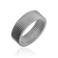 STR-0109 Stainless Steel Inspiration Flexible Steel Screen Ring Size 5-12 (6)