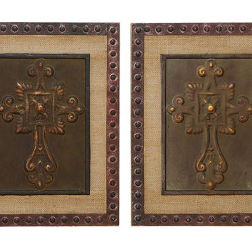 "Wall Sculpture Wood Metal Decor 2 Assorted 18""H, 14""W"