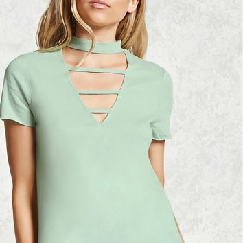 Choker Neck Ladder Tee