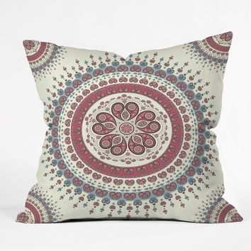 Belle13 Paisley Mandala Love Throw Pillow