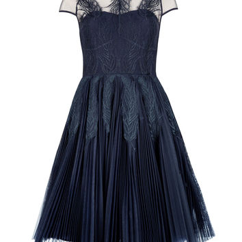 MIYAA - Feather applique motif dress - Navy | Womens | Ted Baker UK