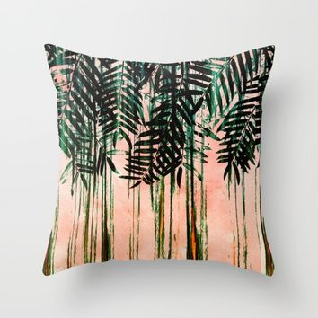 FOLIAGE II Throw Pillow by Nika