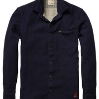 Bonded Shirt With Blue Indigo Feeling - Scotch & Soda