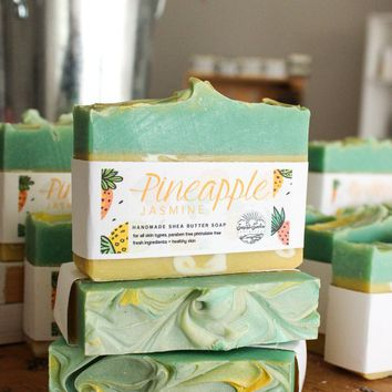 Pineapple Jasmine - Handcrafted Soap Bar