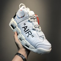 [ Free Shipping ]Nike Air More Uptempo Off White Basketball Sneaker