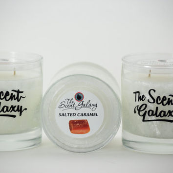 Salted Caramel Fragrance in Palm Wax , Highly Scented Candle