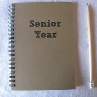 Senior Year  5 x 7 journal by JournalingJane on Etsy