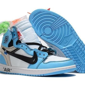 Nike Air Jordan Retro 1 UNC OFF-WHITE Sneakers