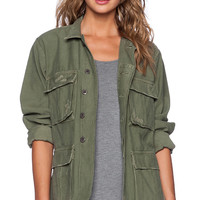 Citizens of Humanity Kylie Military Jacket in Olive