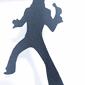 Car Window Decal Vinyl Decal - Elvis Presley - King of Rock and Roll - 1970s - 70s - Elvis Decal - Over 20 Colors Available