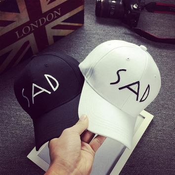 2017 SAD Boy Cotton Fit Dad Bone Hats Sunscreen Baseball Cap Sadboys Men Women Visor Snapback Summer Polo Polo Hat Gorra