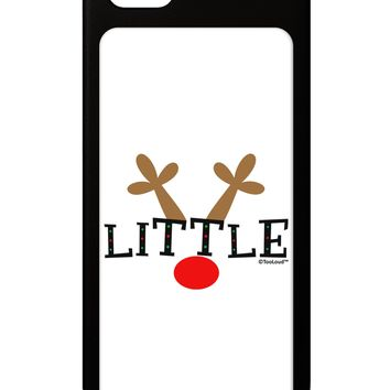 Matching Family Christmas Design - Reindeer - Little iPhone 5 / 5S Grip Case  by TooLoud