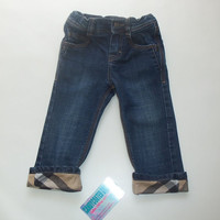Burberry gently used denim jeans girls boy trendy pants t-shirt toddler kid clothes