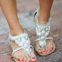 RESTOCK Rock Your World Sandals: Light Grey | Hope's