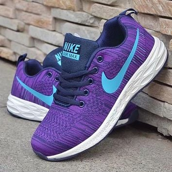 NIKE Women Fashion Crochet Ventilation Running Sneakers Sport Shoes