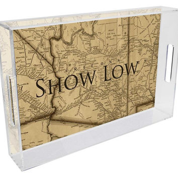 Arizona Antique Map Lucite Tray
