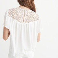 Womens Lace Front Top | Womens New Arrivals | Abercrombie.com