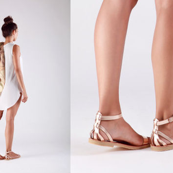 Leather sandals , Sandals, Greek sandals, Wedding sandals, Gladiator sandals , ORCHIDEA