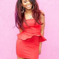 Normani Peplum Mini Tube Dress | Wet Seal