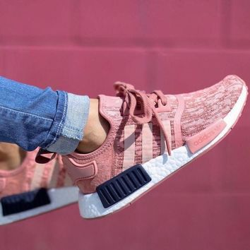 "Adidas NMD R1 Primeknit ""Raw Pink"" Sneaker BY9648"
