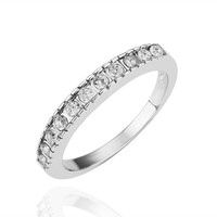 Traditional CZ Stackable Band Gold Ring