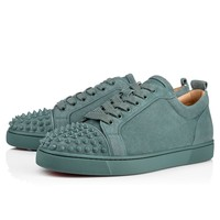 Best Online Sale Christian Louboutin Cl Louis Junior Spikes Men's Flat Everest/everest Mat Suede 18s Shoes 1180051u265