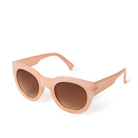 FOREVER 21 Retro Sunglasses Coral/Brown One
