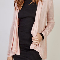 LIGHTWEIGHT WATERFALL CARDIGAN - REDLINE