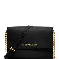 Jet Set Travel Large Phone Crossbody Bag, Black - MICHAEL Michael Kors