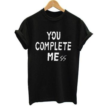 DCCKHY9 New You Complete Mess Me 5SOS Shirt Five 5 Seconds Of Summer T Shirt T-shirt Luke Hemmings women Clothing