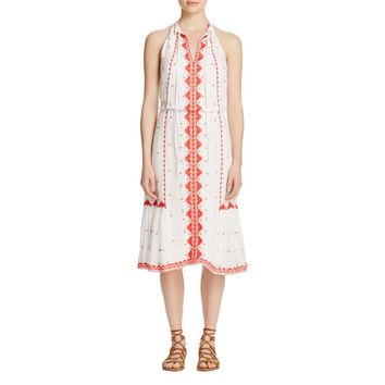 Parker Womens Embroidered Hippie Casual Dress