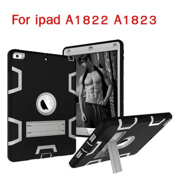 PDEMLIN For ipad A1822 A1823 Cover Armor Shockproof Heavy Duty Silicone Hard Case For Ipad 2017 new 9.7 inch models Free Gifts
