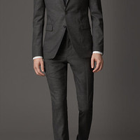 Slim Fit Travel Tailoring Houndstooth Suit