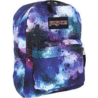 JanSport Black Label Superbreak® Swedish Blue/Pink Tulip Spray Can - 6pm.com