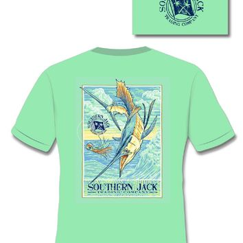 Southern Jack Apparel Swordfish Comfort Colors Unisex Frass Bright T Shirt