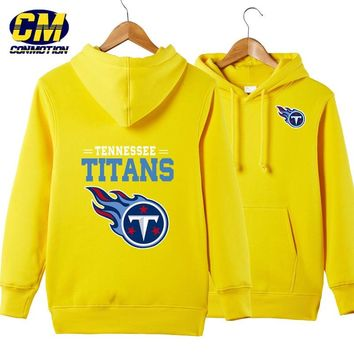 NFL American football Men's casual hoodie fashion sweatshirt outdoor sports pullover Tennessee Titans