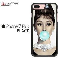 Audrey Hepburn Bubble Gum For Iphone 7 Plus Case