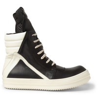 Rick Owens - Panelled Leather High Top Sneakers | MR PORTER