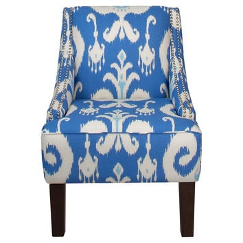 Cam Swoop-Arm Chair, Blue, Accent & Occasional Chairs