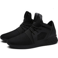 Summer Trainers Men's Shoes Flat Shoes Walking Casual Soft Breathable Mesh Zapatillas Deportivas Spring Lace-up 2017 Men Shoes