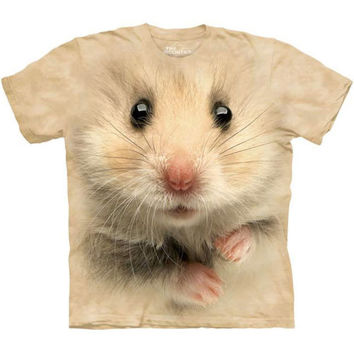 BIG HAMSTER FACE T-Shirt by The Mountain Cute Giant Rodent Head Tee S-3XL NEW
