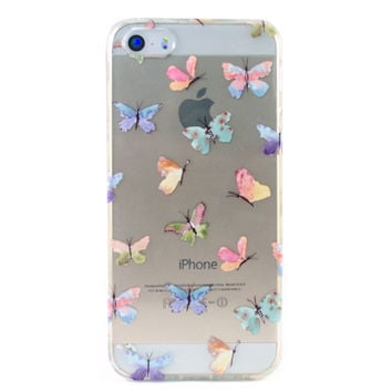 Clear Butterflies iPhone 5 Case