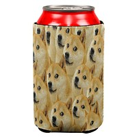 Doge Meme Funny All Over Can Cooler