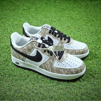 Nike Air Force 1 Low Premium Snake Cocoa 845053-104 AF1 Sport Shoes - Best Online Sale