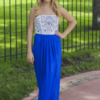 Grand Entrance Maxi Dress - Royal