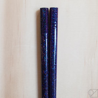 Japanese Chopsticks Purple Night Sky