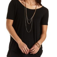 Oversized Twisted Back Tee by Charlotte Russe