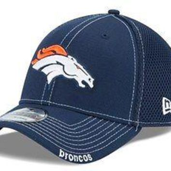Denver Broncos New Era Neo NFL 39THIRTY Stretch Cap Flex Fit Mesh Back Hat 3930