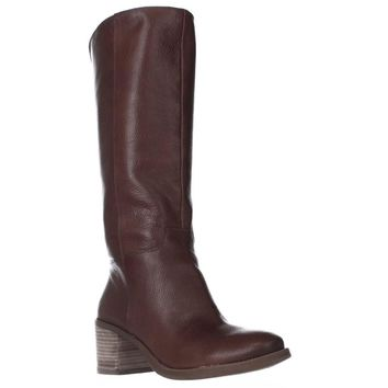 Lucky Brand Ritten Block Heel Riding Boots, Whiskey, 5.5 US / 35.5 EU