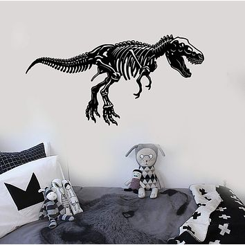 Vinyl Wall Decal Dinosaur Skeleton Kids Room Stickers Unique Gift (ig4094)